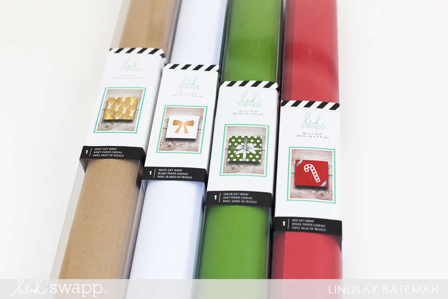 Create DIY Gift Wrap Using Stamps & Paint I @lindsaybateman for @heidiswapp