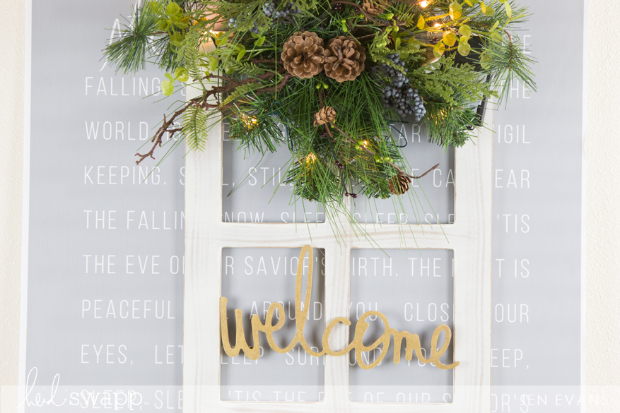DIY Wall Words home decor Christmas entry vignette perfect for that farmhouse look by @createoften for @heidiswapp