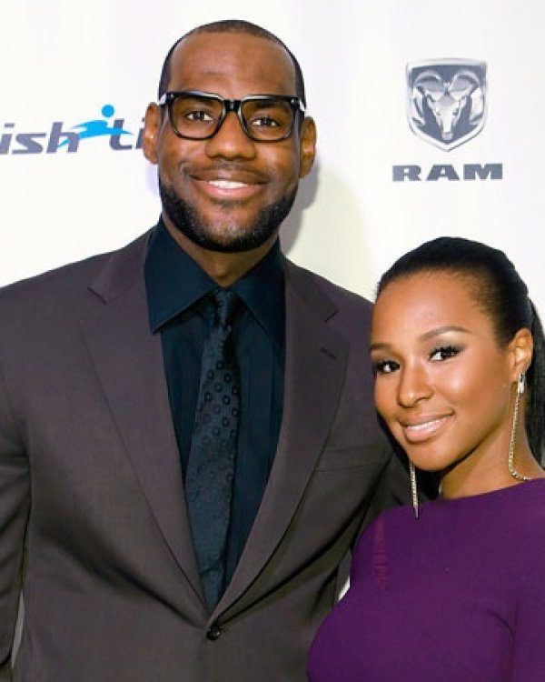 LeBron and Wife