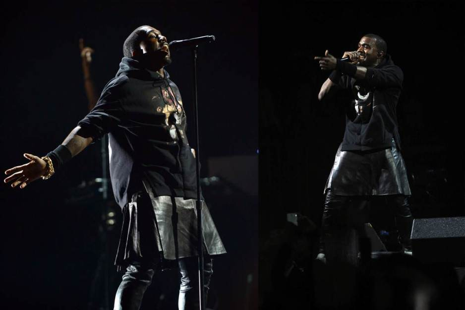 Kanye West leather kilt