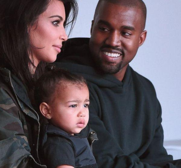 Kim Kanye and North West