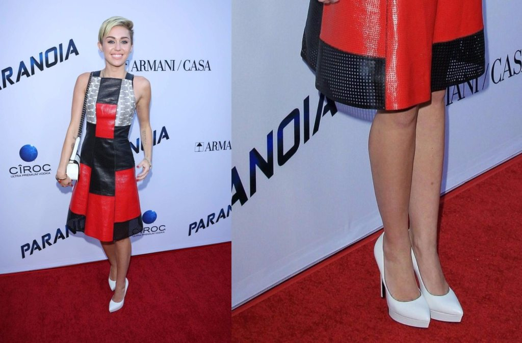 miley cyrus feet shoe size and shoe collection
