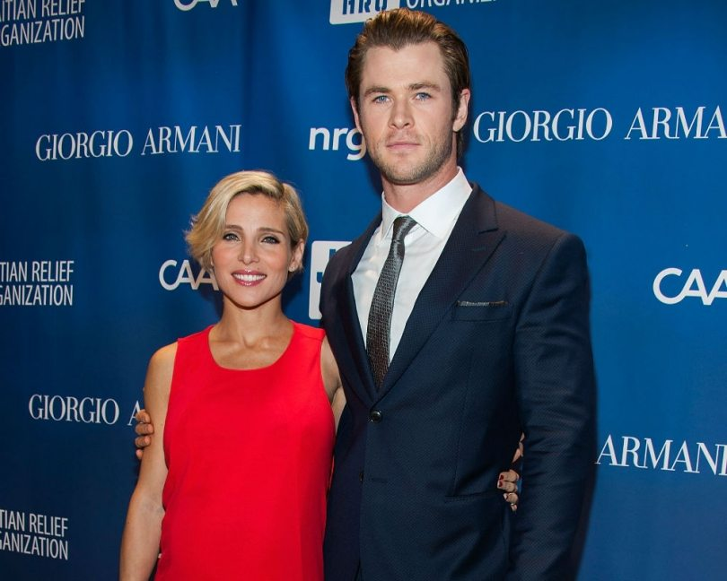 Chris Hemsworth and his stunning body with his wife