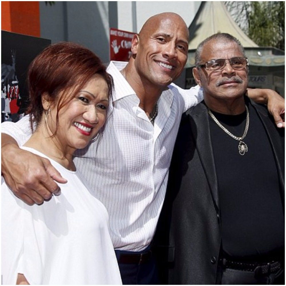 Dwayne Johnson's parents