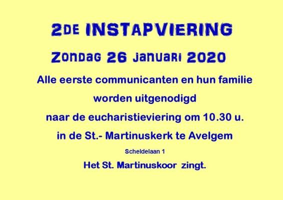 uitnodiging 2de instapviering 26 jan 2020 Avelgem 2