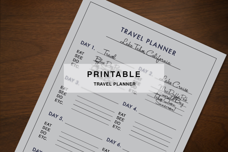 Printable Travel Planner - Hej Doll Simple modern living by