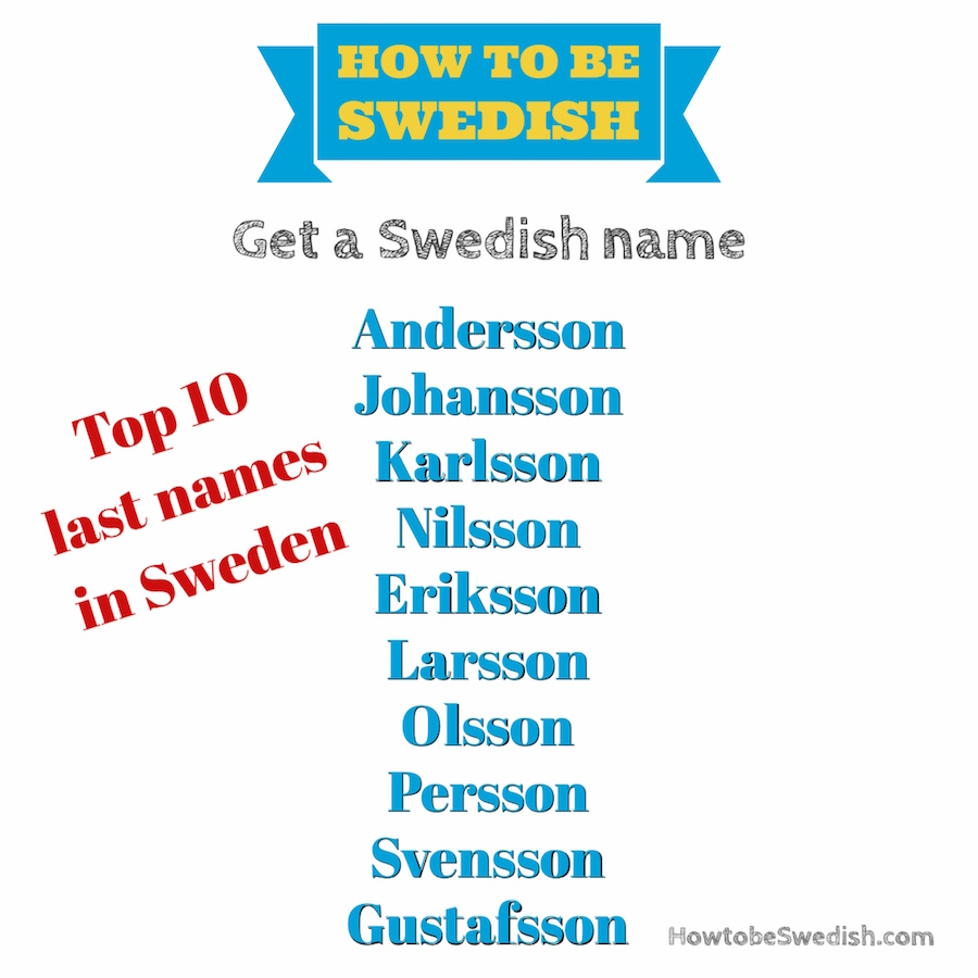 / Name Typical Swedish First Last Names Hej Sweden