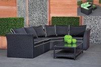 Black Rattan Garden Furniture Cool Wicker Outdoor Patio ...