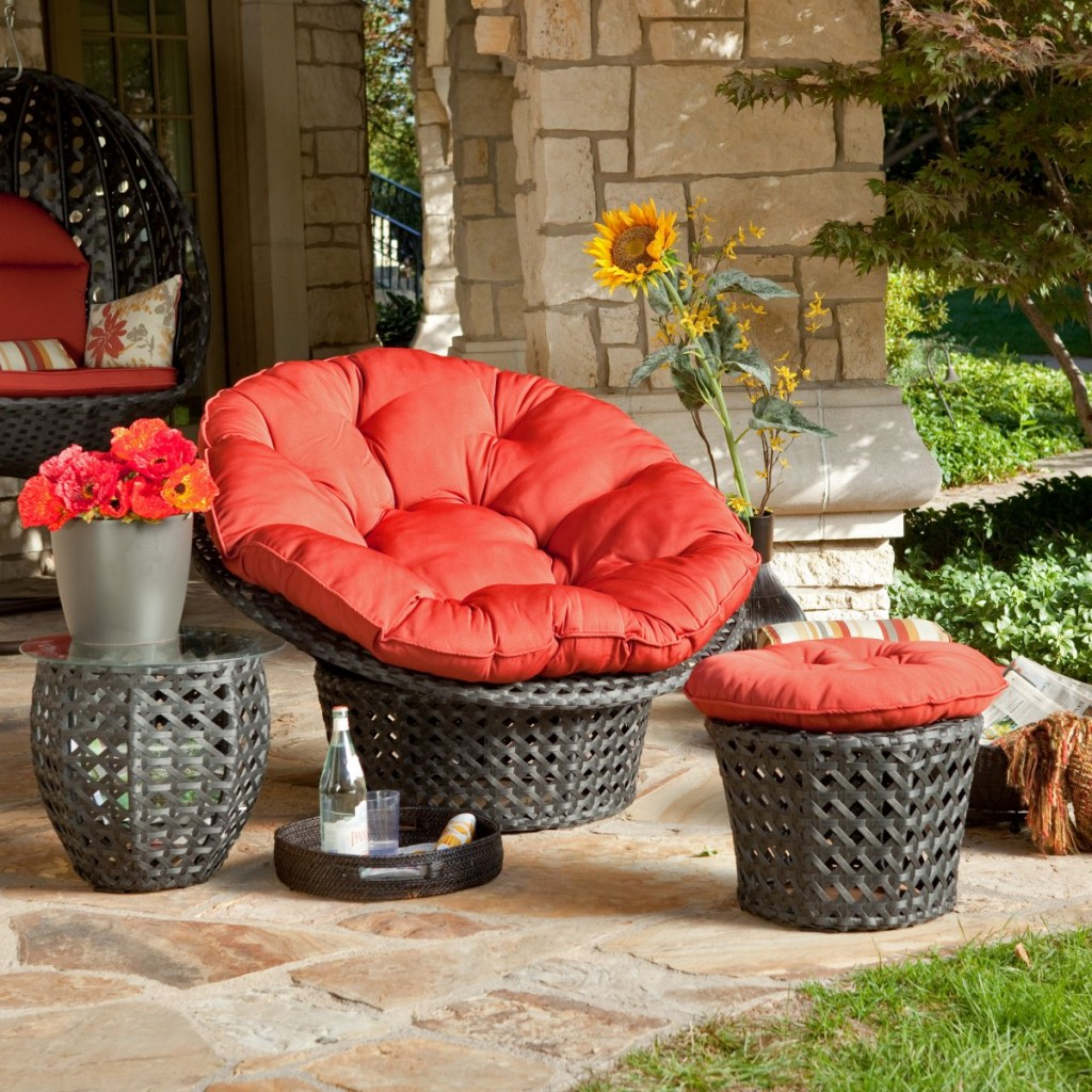 Download Wicker Papasan Chair With Red Cushions Featured Funky Design For  Outdoor Papasan Chair Cushion Covers In
