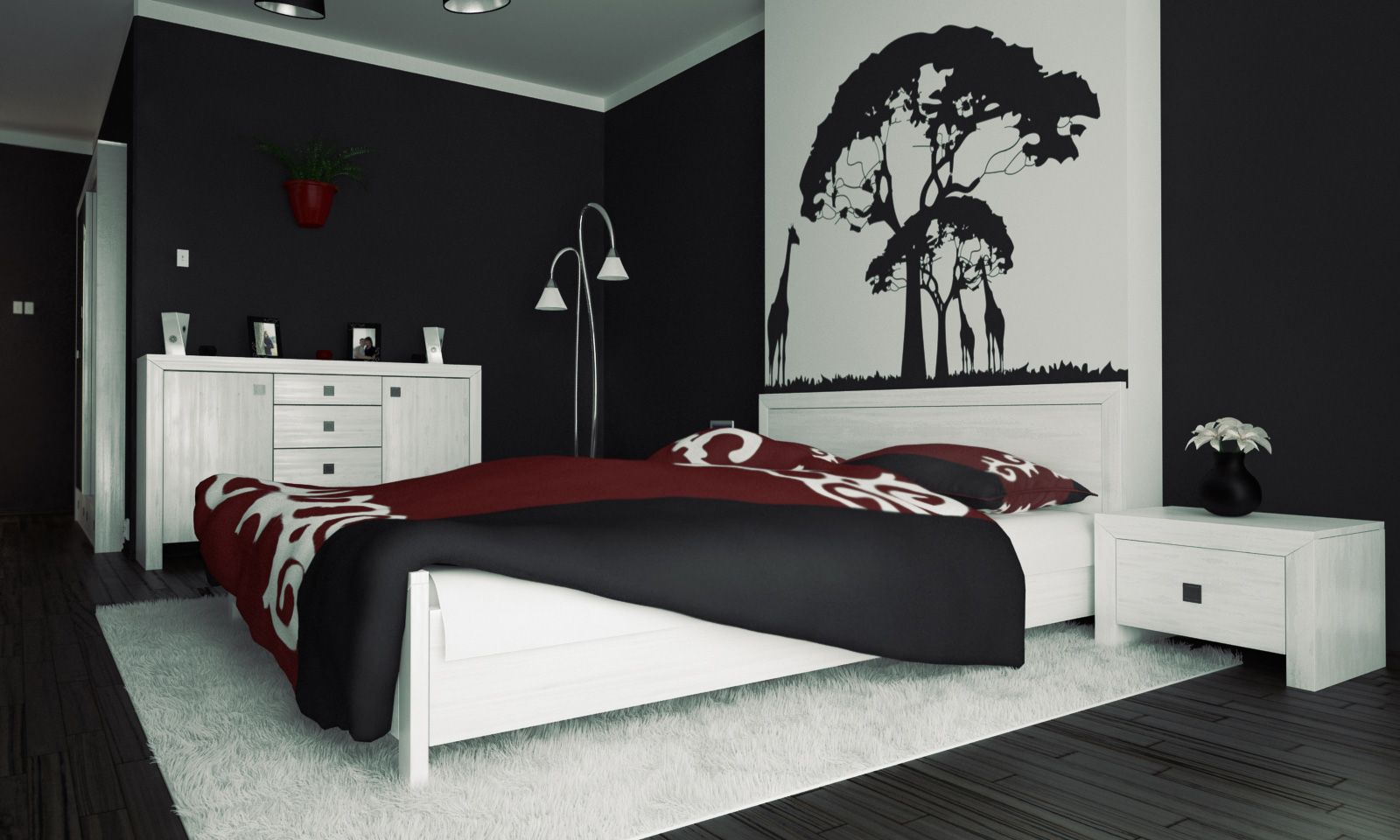 Black And White Artwork For Bedroom Bedroom Interior Masculine Style White Elegant Bed Design On Black