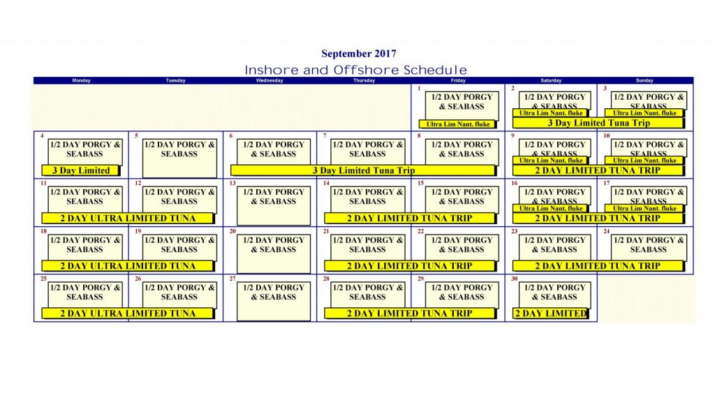 Daily Calendar Schedule Daily Appointment Calendar Office Templates Calendar Cape Cod Fishing Boat The Helen H Fleet