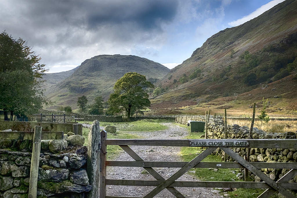 Please Close the Gate Borrowdale Cumbria Lake District