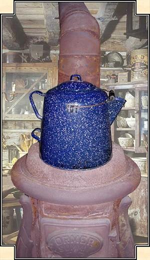 Cowboy Coffee Pot: Enamelware