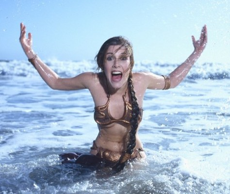 "Carrie Fisher Rocks with ""Rolling Stone"""