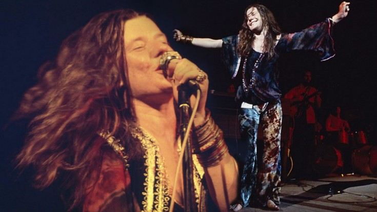 Janis Joplin, on stage