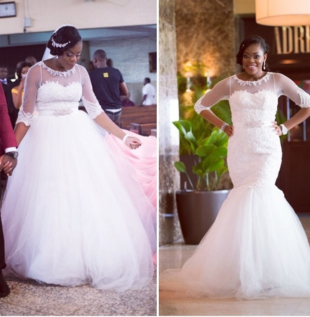 Wedding Gown Alert: Why We Love Chinelo\'s Two-In-One Wedding Dress ...