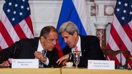 Οι υπουργοί Εξωτερικών Ρωσίας και ΗΠΑ.   ΑΠΕ-ΜΠΕ