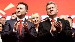 Ο πρόεδρος και ο πρωθυπουργός των Σκοπίων. Φωτογραφία EPA
