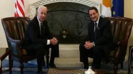 Φωτογραφία Αρχείου: Ο Πρόεδρος της Κυπριακής Δημοκρατίας Νίκος Αναστασιάδης με τον Αντιπρόεδρο των ΗΠΑ, Τζόζεφ Μπάιντεν. ΚΥΠΕ