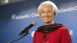 Η κ. Κριστίν Λαγκάρντ. Photo via IMF
