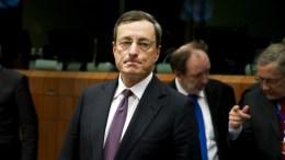 Ο επικεφαλής της ΕΚΤ Μάριο Ντράγκι. Φωτογραφία Eurogroup