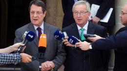Ο Πρόεδρος της Δημοκρατίας κ. Νίκος Αναστασιάδης και ο Πρόεδρος της Ευρωπαϊκής Επιτροπής κ. Jean Claude Juncker. ΚΥΠΕ, ΚΑΤΙΑ ΧΡΙΣΤΟΔΟΥΛΟΥ