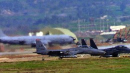A file picture shows US Air Force F-15 fighter planes rolling into position at the NATO Airbase in Incirlik, southern Turkey. EPA