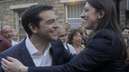 Φωτογραφία ΑΡΧΕΙΟΥ: Ο πρωθυπουργός Αλέξης Τσίπρας με την πρώην πρόεδρο της Βουλής Ζωή Κωνσταντοπούλου στο χώρο βασανιστηρίων του ΕΑΤ ΕΣΑ. ΑΠΕ-ΜΠΕ, ΟΡΕΣΤΗΣ ΠΑΝΑΓΙΩΤΟΥ