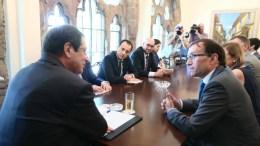 Ο Πρόεδρος της Δημοκρατίας κ. Νίκος Αναστασιάδης με τον Ειδικό Σύμβουλο του Γενικού Γραμματέα του ΟΗΕ για το Κυπριακό κ. Espen Barth Eide.  Φωτογραφία Σ. ΙΩΑΝΝΙΔΗΣ