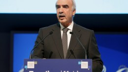 Greek New Democracy leader Vangelis Meimarakis gives a speech during the session of the Congress of European People's Party Group in Madrid, Spain, 21 October 2015. EPA, JJ GUILLEN