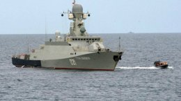 Ρωσικό πολεμικό πλοίο στην Κασπία Θάλασσα. Σύμφωνα με το ρωσικού υπουργείο Άμυνας ρωσικοί πύραυλοι τύπου cruise εκτοξεύθηκαν από την Κασπία και έπληξαν στόχους του Ισλαμικού Κράτους στην Συρία. Φωτογραφία ρωσικό υπουργείο Άμυνας.