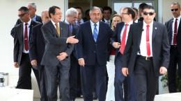 ΦΩΤΟΓΡΑΦΙΑ ΑΡΧΕΙΟΥ: Ο Πρόεδρος της Δημοκρατίας κ. Νίκος Αναστασιάδης παρακάθισε σε συνομιλίες για το Κυπριακό με τον κατοχικό ηγέτη κ. Μουσταφά Ακιντζί, και τον κ. 'Αιντα. ΚΥΠΕ, ΚΑΤΙΑ ΧΡΙΣΤΟΔΟΥΛΟΥ