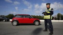 FILE PHOTO. Border control police checks cars in the border between France and Italy. EPA/SEBASTIEN NOGIER