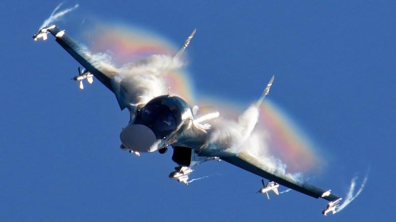 Ρωσικό αεροσκάφος κρούσης Su-34. Φωτογραφία via Wikipedia