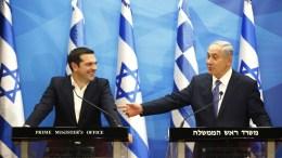 Φωτογραφία Αρχείου: Israeli Prime Minister Benjamin Netanyahu (R) and his Greek counterpart Alexis Tsipras (L) deliver joint statements in Jerusalem, 25 November 2015. EPA, RONEN ZVULUN, POOL