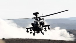 FILE PHOTO. Ελικόπτερο  Boeing AH-64D Apache. EPA/JAVIER CEBOLLADA