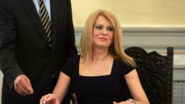Η πρώην υφυπουργός Οικονομίας, Ανάπτυξης και Τουρισμού αρμόδια για θέματα Βιομηχανίας Θεοδώρα Τζάκρη. ΑΠΕ-ΜΠΕ, Αλέξανδρος Μπελτές