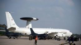 AWACS NATO warning and control aircraft. EPA, GRZEGORZ MICHALOWSKI