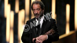 French actor Vincent Lindon receives the award for Best Actor for his role in the film 'La loi du marche' (The Measure of a Man) during the 41st annual Cesar awards ceremony held at the Chatelet Theatre in Paris, France, 26 February 2016.  EPA, ETIENNE LAURENT