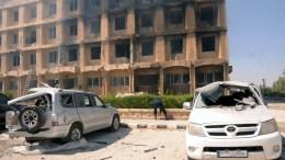 """""""Θετική εξέλιξη"""" η οκτάωρη κατάπαυση πυρός στο Χαλέπι, αλλά δεν αρκεί για να διανεμηθεί ανθρωπιστική βοήθεια στην πόλη, σύμφωνα με τον ΟΗΕ. EPA/SANA HANDOUT HANDOUT EDITORIAL USE ONLY/NO SALES"""