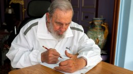 A handout picture provided by Estudios Revolucion and Cubadebate shows former Cuban President Fidel Castro. HANDOUT  EDITORIAL USE ONLY, NO SALES