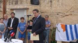 Ο Πρόεδρος της Δημοκρατίας κ. Νίκος Αναστασιάδης τέλεσε τα εγκαίνια του Κοινοτικού Πάρκου «Τάσου Μητσόπουλου». Φωτογραφία ΧΡ. ΑΒΡΑΑΜΙΔΗΣ