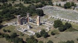 Ο αρχαιολογικός χώρος των Φιλίππων. ΑΠΕ-ΜΠΕ/STR