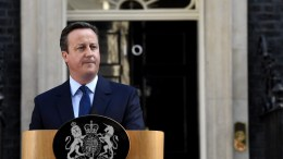 British Prime Minister David Cameron announces his resignation. EPA/FACUNDO ARRIZABALAGA