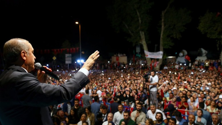 FILE PICTURE. Turkish President Recep Tayyip Erdogan speaking during his rally in Istanbul, Turkey. EPA, TURKISH PRESIDENTAL PRESS OFFICE, HANDOUT EDITORIAL USE ONLY