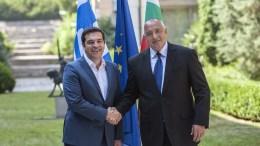 Alexis Tsipras (L)  Boyko Borisov (R)   EPA/STR