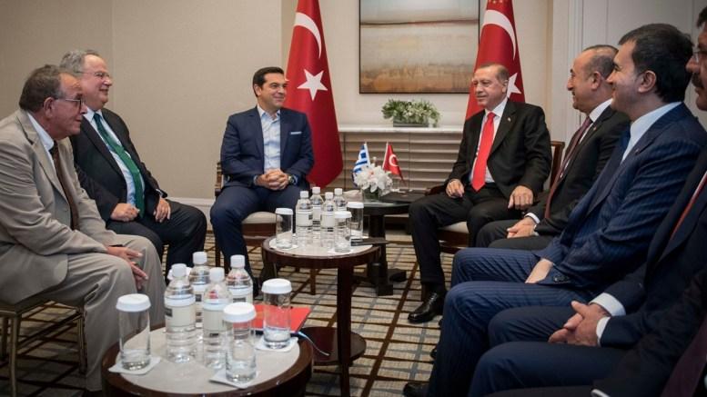 File Photo: Ο πρωθυπουργός Αλέξης Τσίπρας με τον Πρόεδρο της Τουρκίας Ταγίπ Ερντογάν. Φωτογραφία Andrea Bonetti