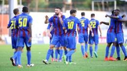 Οι παίκτες της Κέρκυρας πανηγυρίζουν το γκολ κατά την διάρκεια του αγώνα της Super League Ελλάδας μεταξύ της Κέρκυρας και της Λάρισας στο Ε.Α.Κ. Κέρκυρας, Κυριακή 18 Σεπτεμβρίου 2016. Τελικό σκορ  Κέρκυρα-Λάρισα 2-0. ΑΠΕ-ΜΠΕ / ΑΠΕ- ΜΠΕ/ ΣΤΑΜΑΤΗΣ ΚΑΤΑΠΟΔΗΣ