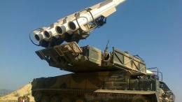 Ο συριακός στρατός αναχαίτισε ισραηλινούς πυραύλους κοντά στη Δαμασκό. Φωτογραφία συριακή τηλεόραση.