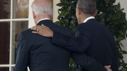 US President Barack Obama (R) and US Vice President Joe Biden (L) walk back to the Oval Office together after Obama delivered remarks on the victory of President-elect Republican Donald Trump in the 2016 election, in the Rose Garden of the White House in Washington, DC, USA, 09 November 2016. Obama encouraged Americans to unite and work for change despite Trump's victory. EPA, MICHAEL REYNOLDS